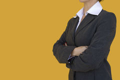 Elegant Consultant. A elegant consultant standing with her arms crossed Royalty Free Stock Photography