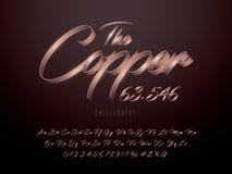 Copper font stock illustration