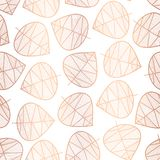 Elegant copper rose gold foil scattered stylized leaves seamless vector background on white. Subtle abstract pattern. Repeating. Texture foilage for wedding vector illustration