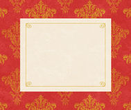 Elegant Copy Space on Red Damask Stock Photo