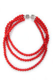 Elegant coral necklace Royalty Free Stock Image