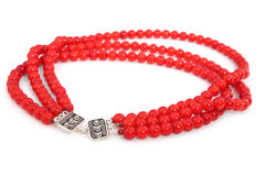 Elegant coral necklace Stock Photo