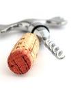 Elegant corkscrew. Close up of an elegant corkscrew isolated over white royalty free stock images