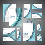 Elegant corporate identity design Royalty Free Stock Photos