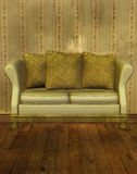 Elegant couch 3D rendered Royalty Free Stock Photography