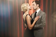 Elegant couple. Picture of a couple on a stage Stock Images