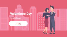 Free Elegant Couple Dancing Happy Valentines Day Concept Business Man Woman Young Lovers Cityscape Background Male Female Royalty Free Stock Photography - 137074027