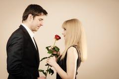 Elegant couple on perfect date. Stock Image