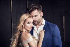 Elegant couple posing together. Elegant beautiful couple posing together Royalty Free Stock Photos