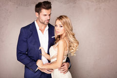 Elegant couple posing together. Stock Images