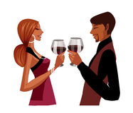 Elegant couple toasting Royalty Free Stock Photography