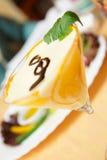 Elegant cream citrus dessert Royalty Free Stock Photo