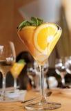Elegant cream citrus dessert Royalty Free Stock Photos