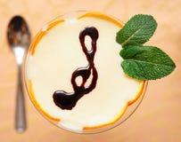 Elegant cream citrus dessert Stock Images