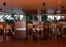 Elegant Cruise Ship Lounge. The elegant upper deck lounge of a large cruise ship royalty free stock photos