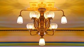 Elegant Crystal Chandelier Stock Photos