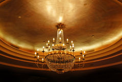 Elegant crystal chandelier Royalty Free Stock Photos