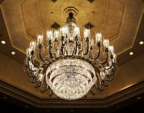 Elegant crystal chandelier Royalty Free Stock Photo