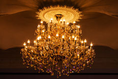 Elegant crystal chandelier Stock Image