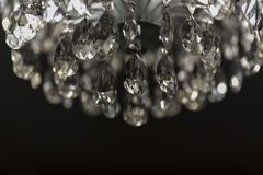 Elegant Crystal Chandelier with Perfect Cut 2019. Elegant Crystal Chandelier with Perfect Cut and gleam 2019 stock image