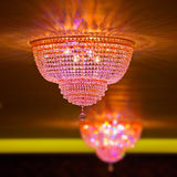 Elegant crystal chandeliers Stock Images