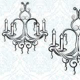Elegant crystal lampa på lyxig textur royaltyfri illustrationer
