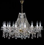 Elegant crystal strass chandelier with ten lamps. royalty free stock photos