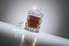 Elegant crystal whiskey decanter Stock Images