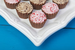 Elegant Cupcake Chocolates Stock Photos