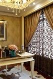 Elegant curtain of the study room Royalty Free Stock Photos