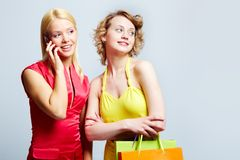 Elegant customers Stock Images