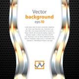 Elegant 3d metallic background, vector. Royalty Free Stock Photography