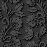 Floral 3d seamless pattern. Elegant 3d seamless floral pattern. Vector Illustration Stock Image