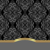 Elegant damask Background with  border for design. Stock Photo