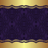 Elegant damask Background with golden Borders Royalty Free Stock Photos