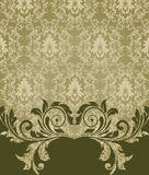 Elegant damask invitation card Royalty Free Stock Photos