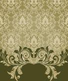 Elegant damask invitation card. Vintage damask background or invitation Royalty Free Stock Photos