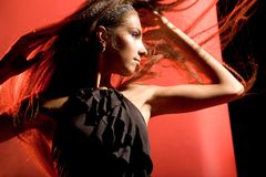 Elegant dance performer Stock Photography