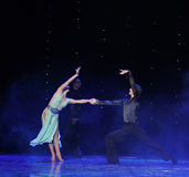 Elegant dance steps-Flamingo dance-the Austria's world Dance Royalty Free Stock Image