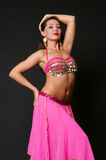 Elegant dancer in stage costume Stock Images