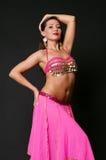 Elegant dancer in stage costume stock images