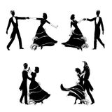Elegant dancers illustration Royalty Free Stock Photo