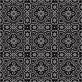 Elegant dark antique background image of lace flower round kaleidoscope Royalty Free Stock Photos