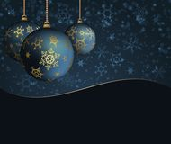 Elegant dark background with Christmas balls. Vector illustration Royalty Free Stock Photography
