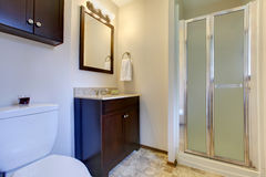 Elegant dark brown tones bathroom Stock Photo