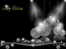 Elegant dark Christmas Background Stock Photography