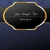 Elegant, dark, gold-framed label Stock Images