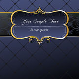 Elegant, dark, gold-framed label Royalty Free Stock Photo