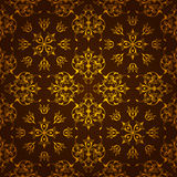 Golden dark background made of symmetrical pattern Stock Photos