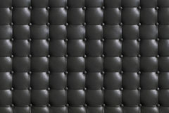 elegant dark gray leather texture with buttons for background an Stock Photos